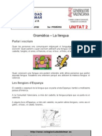 Unitat 2 - Gramàtica - Ortografia - Vocabulari - Escriptura