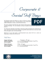 2011 Golf Day Information Pack