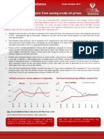 Economy First Cut Inflation - October 2011