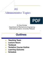 Lecture 1 Admin and Intro