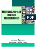 Street Works Proposals Relating to Devt Works
