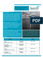 Beatrice Wind Farm Newsletter