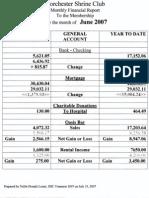June 2007 Financial Report