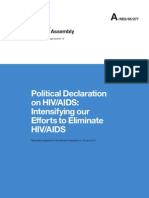 Political Declaration on HIV/AIDS adopted by the General Assembly, 10 June 2011