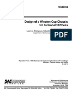 Design of a Winston Cup Chassis for Torsional Stiffness
