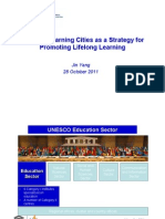 Building Learning Cities as a Strategy for Promoting Lifelong Learning