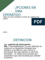 Interrupciones en Un Sistema Operativo