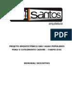 Memorial Descritivo Casas Populares