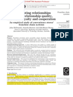 Investigating relationships between relationship quality, customer loyalty and cooperation