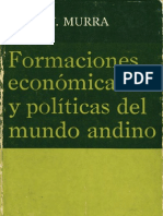 John Murra (1975) Formaciones económicas y políticas del mundo andino