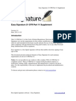 Easy Signature 21 CFR Part 11 Supplement