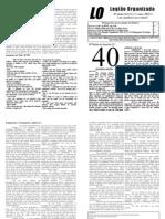 Quadragésima Edição do Jornal da LO