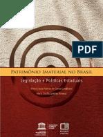 Patrimonio Imaterial no Brasil - Legislações Estaduais - Maria Cecilia Londres Fonseca
