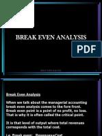 4. Break Even Analysis