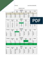 Calendário Escolar 2011-2012