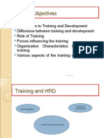 Intro to Training and Devp