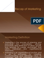 Recap of Marketing