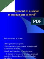 Lecture 1_Management as a Social Management Control