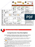 November 2011 Group Fitness Schedule