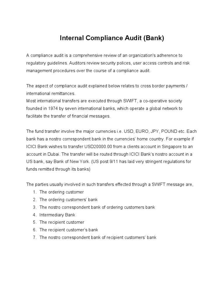 Compliance Audit | Money Laundering | Financial Services