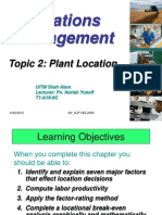 2.0-Topic 2 - Plant Location