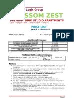 Price List & Payment Plan Studio