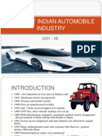 Study of Indian Automobile Industry