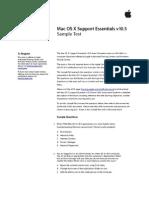 Support Essentials Sample Test v10.5