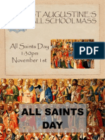 All School Mass for All Saints Day at St Augustine's Catholic Primary School in Hythe, Kent, UK