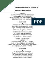 Letras Sacadas Del Audio Himnos de La Provincia
