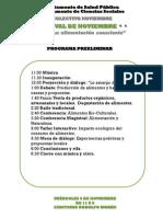 Programa y Convocatorias Festival de Noviembre
