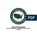 Strongsville Business Retention and Expansion Survey, 2011