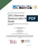 2011 Sherman-Denison Labor Shed Study