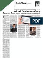 Diritto 2.0 su Italia Oggi del 17 ottobre 2011