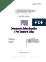 Practica 2. Lab Oratorio de Suelos. P.E. Y P.U de SUELOS