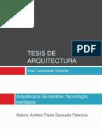 TESIS DE ARQUITECTURA