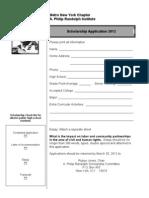 A. Philip Randolph Institute, Metro NY Chapter 2011 Scholarship Application