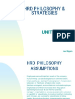 HRD - Philisopy & Strategy - Unit 3