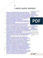 Diabetes in Adults Quality Standard