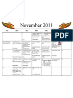 Shortcut to November 2011 Calendar