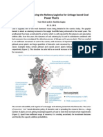 Optimization of Railway Logistics for Coal Based TPPs