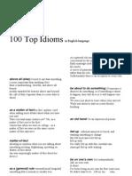 Top 100 Idioms