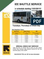 Shuttle Service Flyer- English