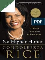No Higher Honor by Condoleezza Rice - Excerpt