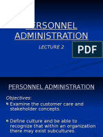 Personnel Administration Lecture 2