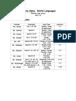FHS Safety Nets- World Languages 11-12
