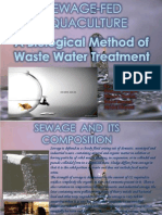 Waste Water Management Through Sewage Fed Agriculture