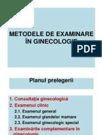 Metodele de Examinare in Ginecologie - C. Cordaniuc