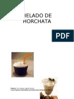 Helado de horchata