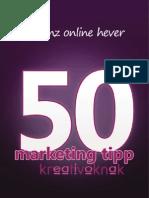 50 marketing tipp kreatívoknak